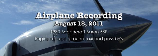 Beech 58P 2011 Recording