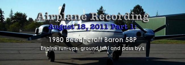 Beech 58P 2011 Recording 1